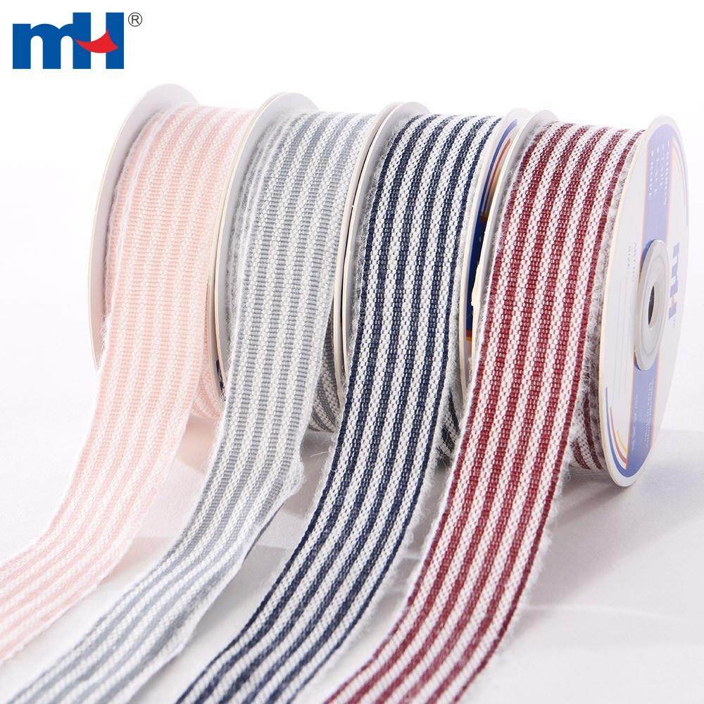 Stripes woven ribbon