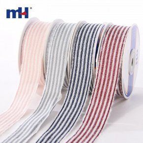 Stripes woven ribbon