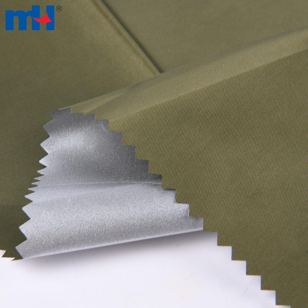 silver coated taffeta fabric