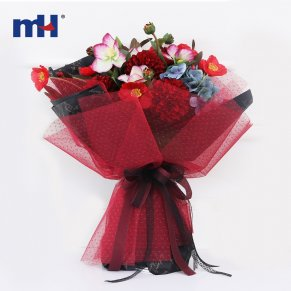 mesh flower wrapping bouquet