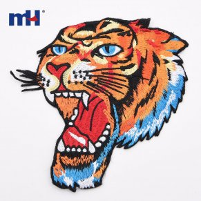 tiger embroidery patch