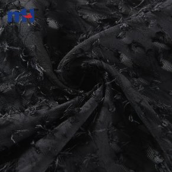 100% poliéster tejido de gasa de flores de corte para Dress-21NW-0112