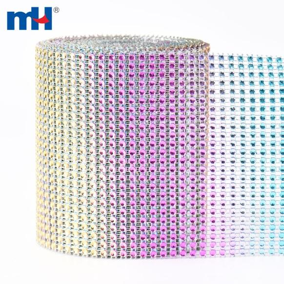 envoltura de diamantes de imitación de arcoíris