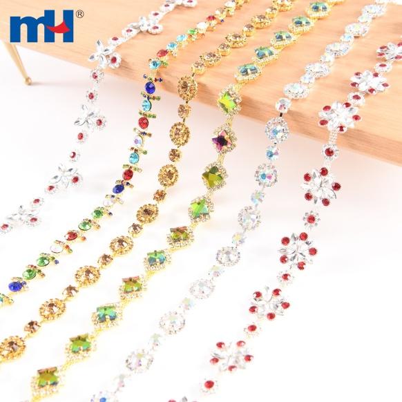 Cadena de diamantes de imitación de metal