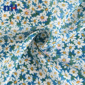 Impreso Floral Crinkle Crepe Chiffon-21NW-0101