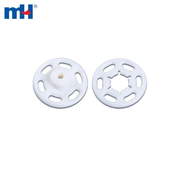 Botón de botón de presión circular de plástico-6608-0042
